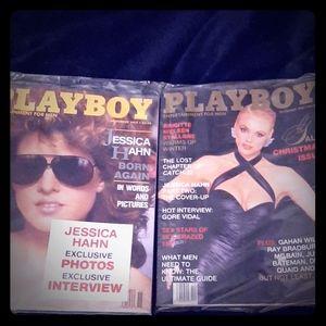 2 vintage playboy magazines